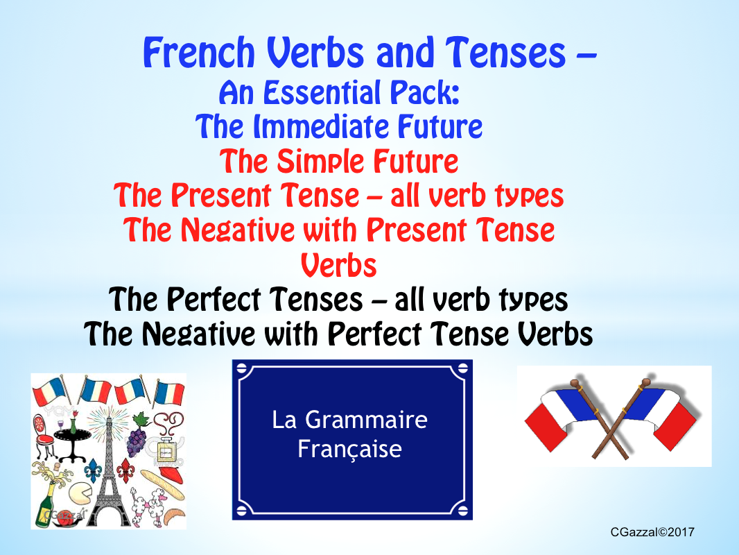 French Verbs & Tenses - An Essential Pack.