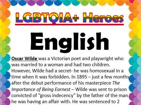 LGBTQ Heroes- Core Subjects Pride Month/Diversity Week