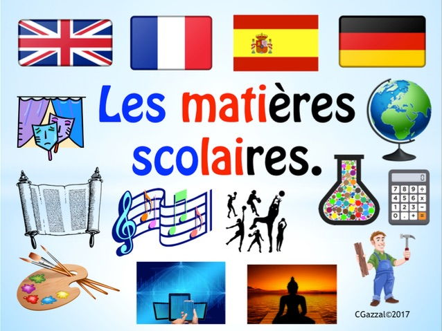 school subjects in french