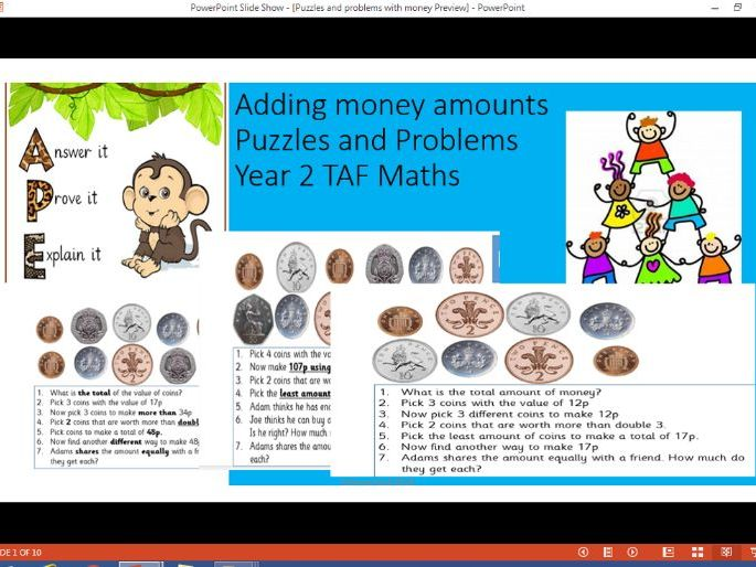 Solving Problems with money Year 2 TAF