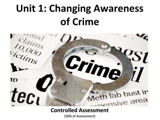 WJEC Level 3 Criminology Certificate: Unit 1 Complete Bundle