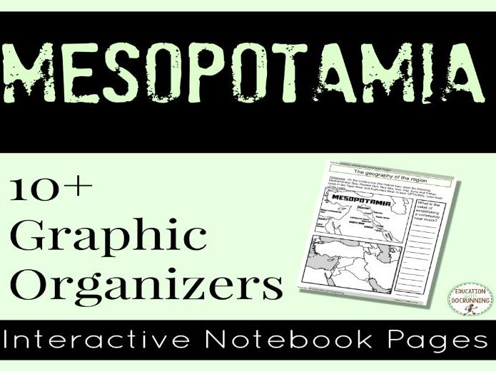 Mesopotamia Digital Interactive Notebook Graphic Organizers for Google Drive