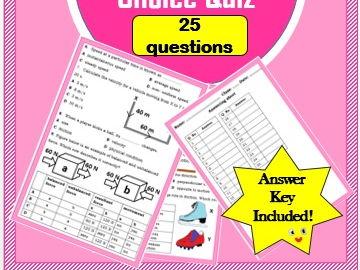 Kinematics & Dynamics Multiple choice Quiz