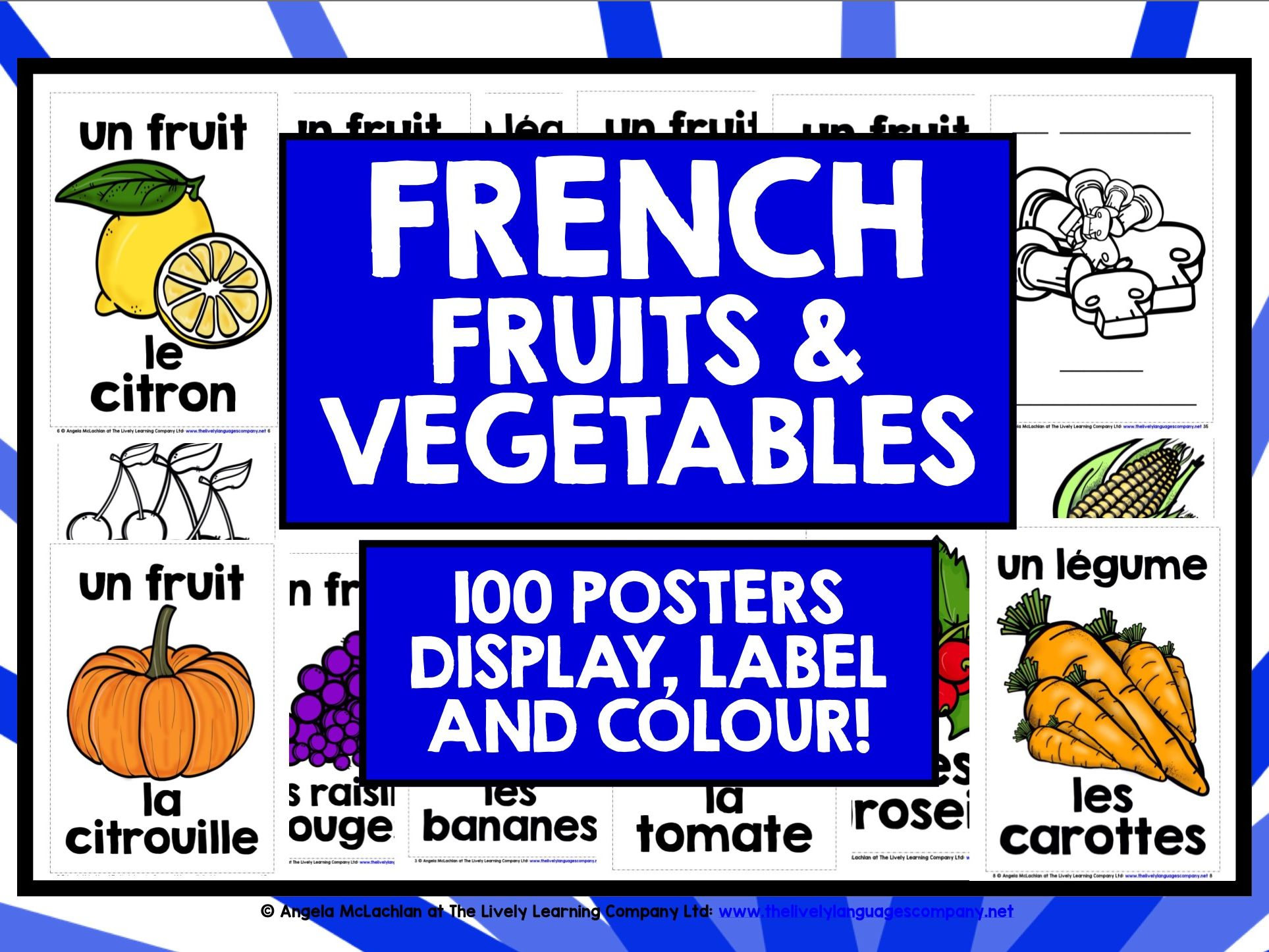 PRIMARY FRENCH FRUITS & VEGETABLES 1
