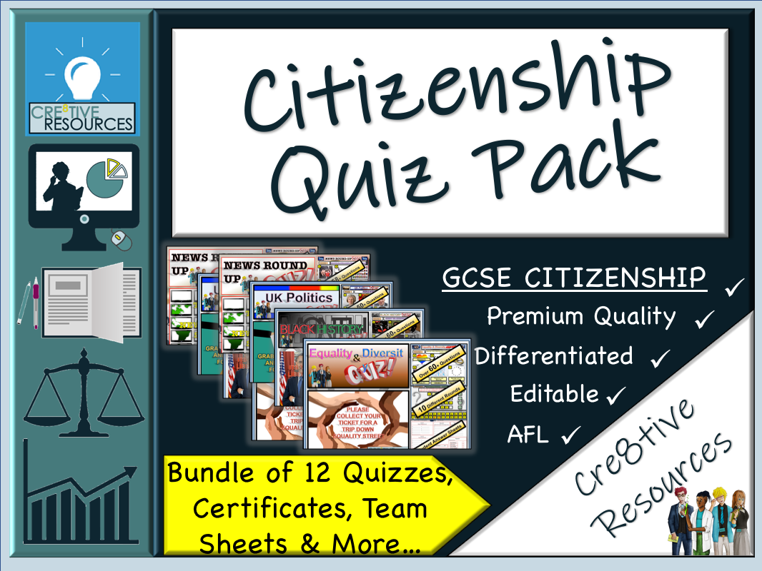 Citizenship End of Year Quiz Pack