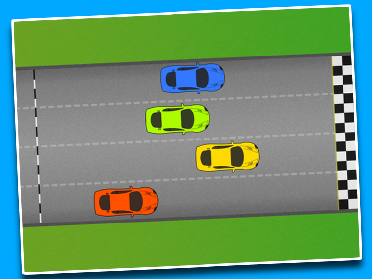 Four car race - PowerPoint game / quiz / starter