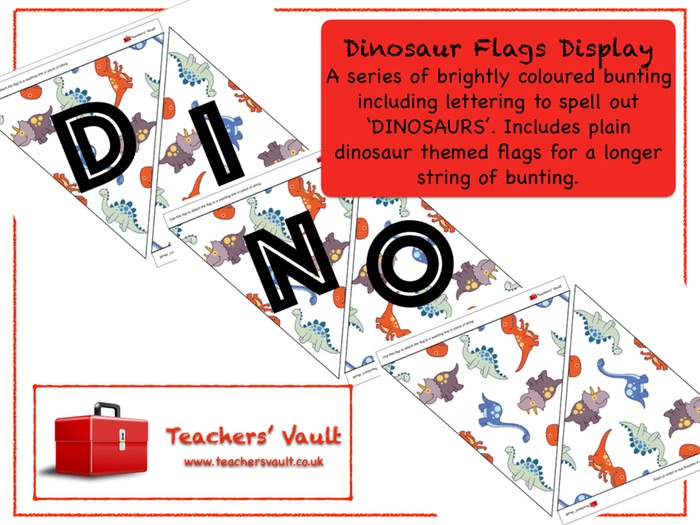 Dinosaur Flags Display