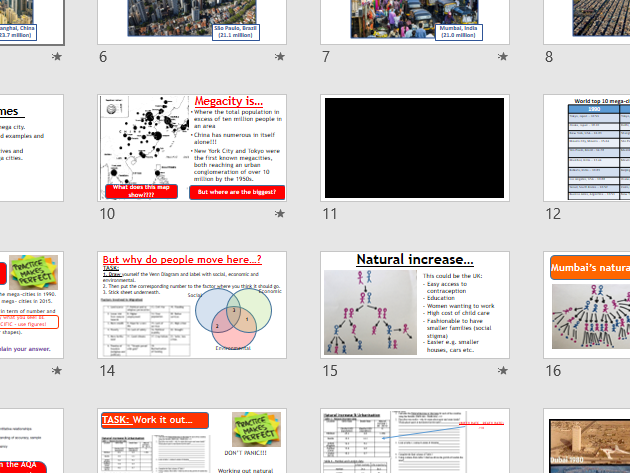 AQA URBAN ISSUES - Megacities (Lesson and Resources).