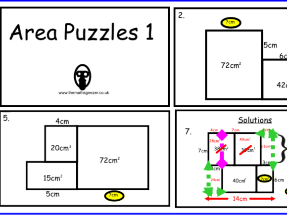 Area Puzzles 1 - Notebook
