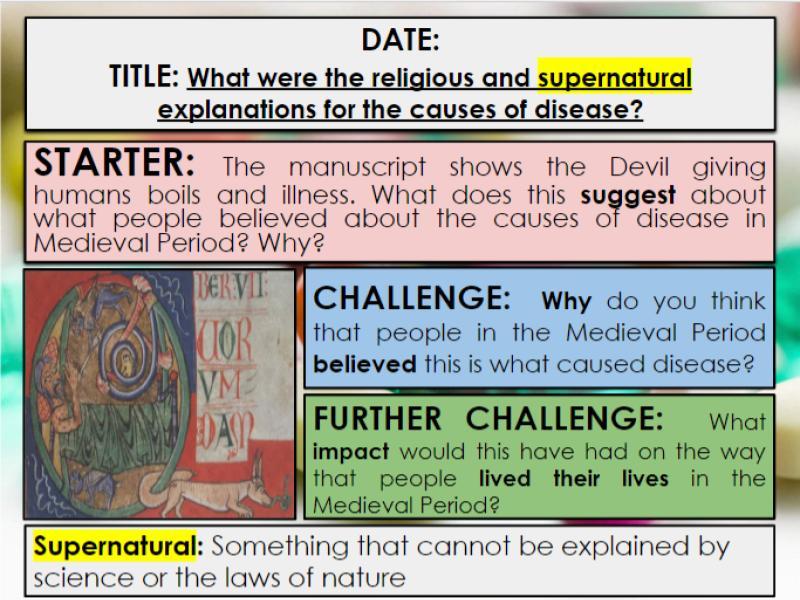 Edexcel 9-1 History GCSE: Paper 1 Medicine in Britain: KT1 Lesson 1: Medieval causes of disease
