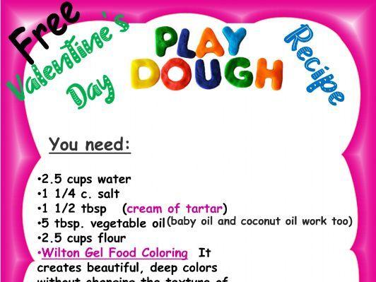 Valentine's Day Playdough Activity! FREE FREE FREE
