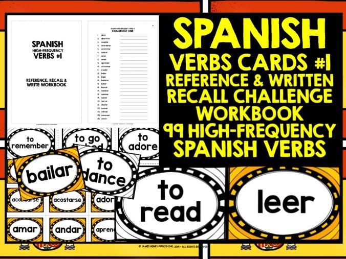 SPANISH GCSE VERBS CARDS #1
