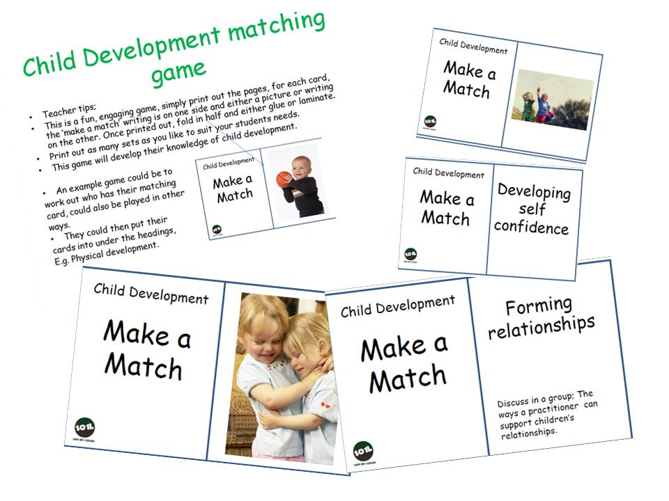 Child development Matching game