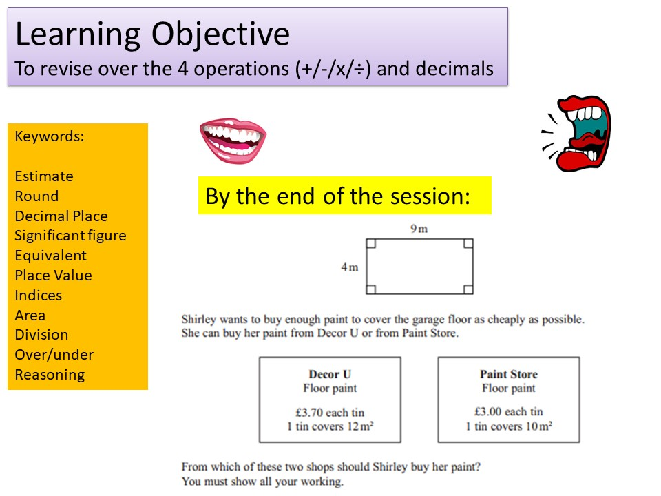 GCSE 1-9 Foundation 4 Operations, Decimals & Money Revision