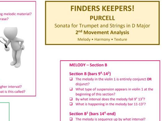 Purcell Sonata for Trumpet and Strings - Mvt 2 - Analysis Questions