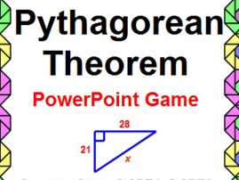 PYTHAGOREAN THEOREM: POWERPOINT GAME - WIPEOUT! OR REVIEW