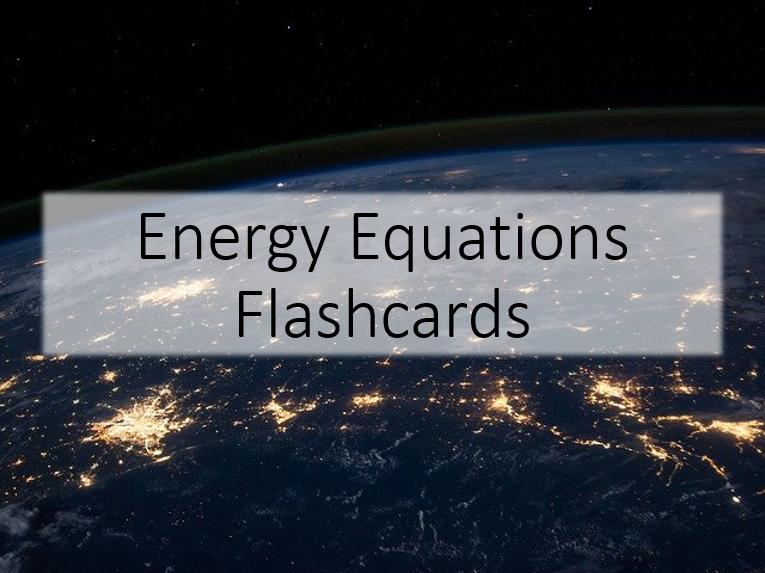 Energy Flashcards GCSE