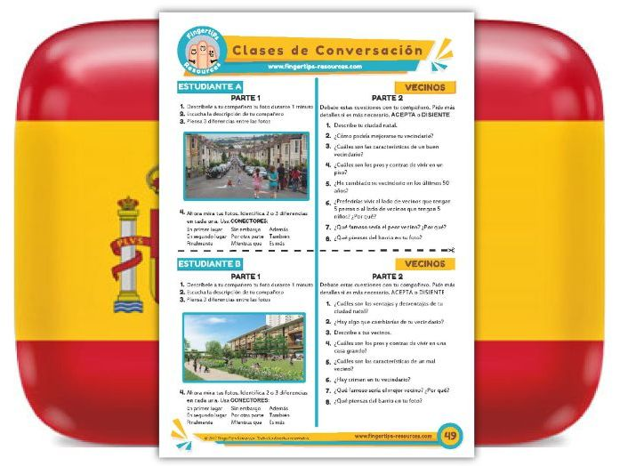 Vecinos - Spanish Speaking Activity