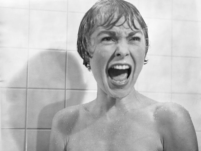 Psycho key screen shots including shower scene with commentary