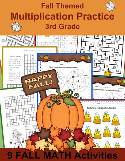 3rd Grade Math: FALL Multiplication