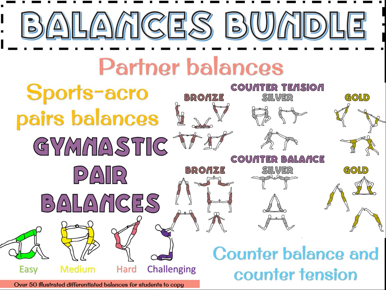 Gymnastics pairs balances bundle (counter tension/balance and sports acro)