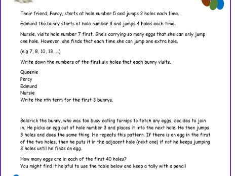 Easter Sequences Activity
