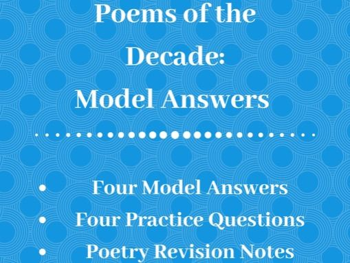 Poems of the Decade Anthology: Model Answers and Revision Pack