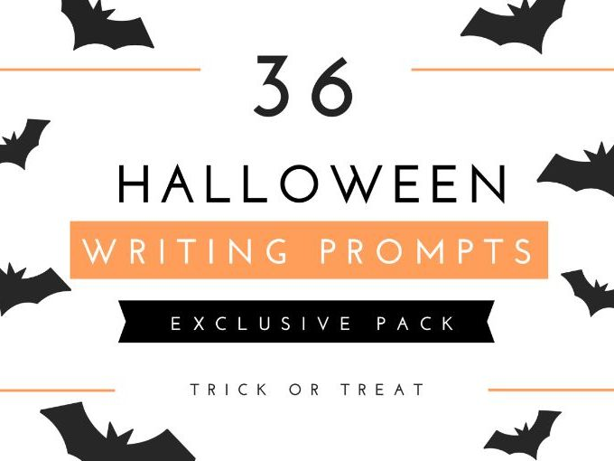 Halloween Writing activities: Prompts Cards 2020