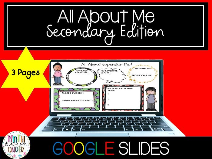 All About Me - Digital Ice Breaker Activity / Get to Know You