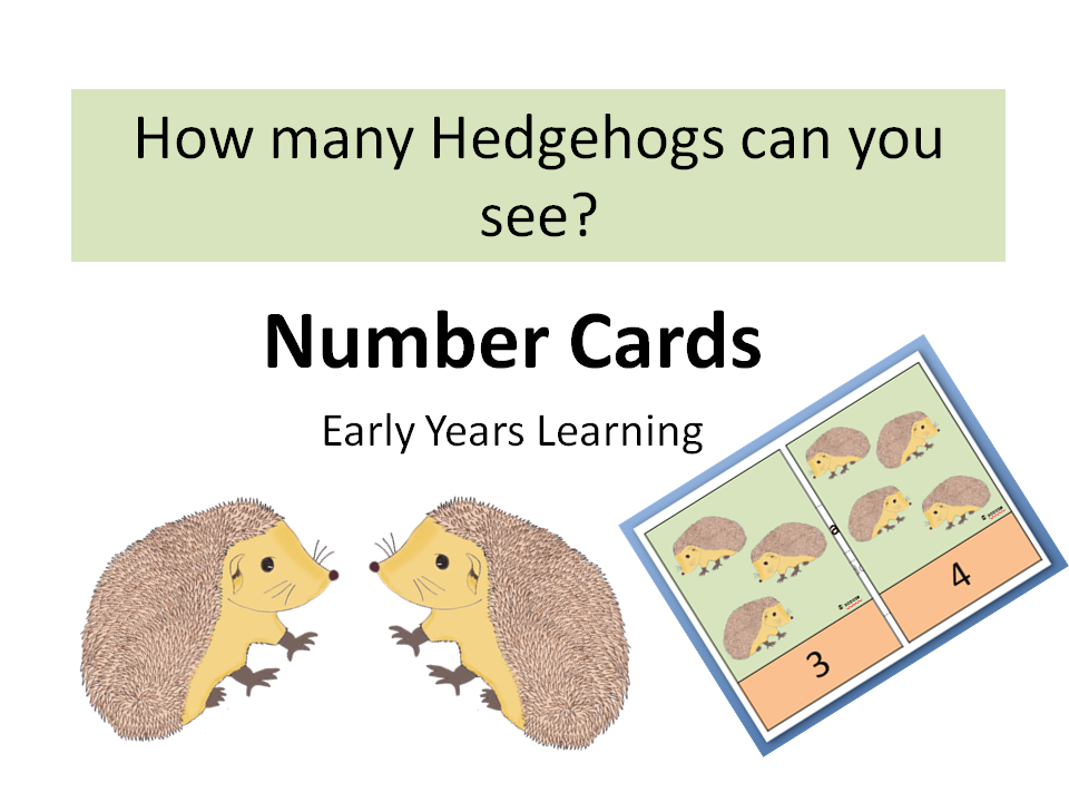How Many Hedgehogs Can You See? - Number Cards