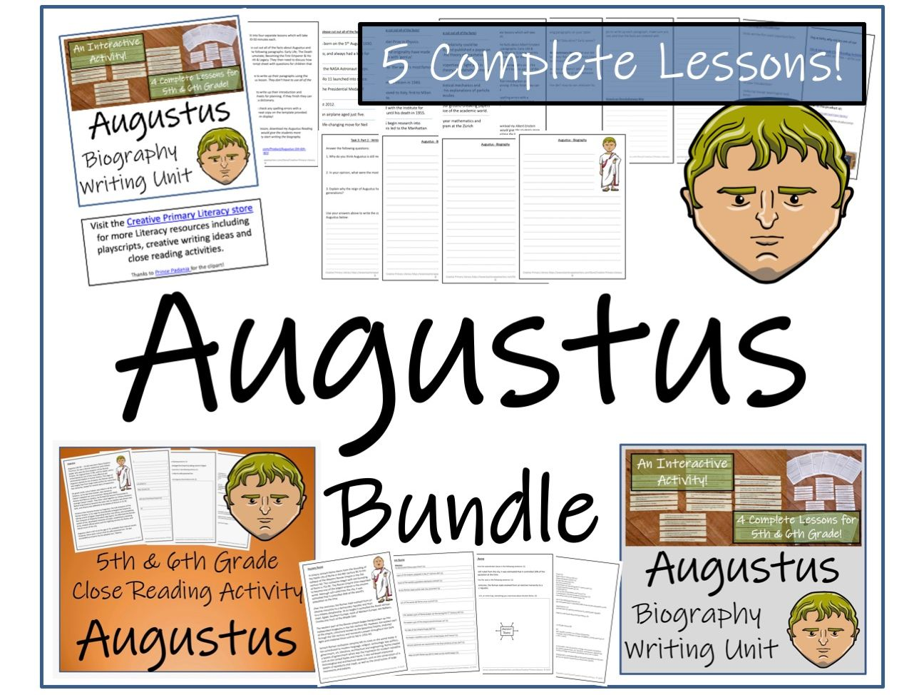 UKS2 History - Bundle of Activities about Augustus