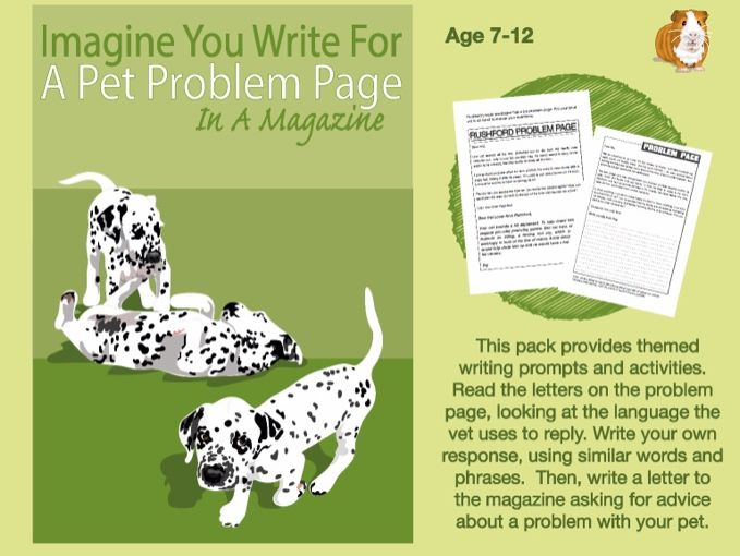 Imagine That You Write For A Pet Problem Page In A Magazine (7-13 years)