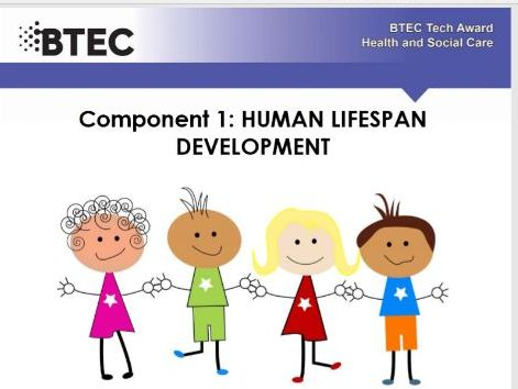 Human lifespan development - BTEC Health and Social care. Work booklet .  Part 4 of a series of 6.