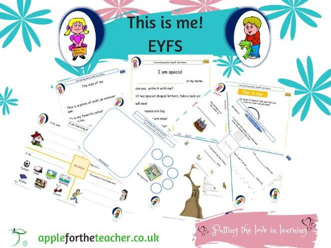 This is me EYFS All About Me Activities and Worksheets