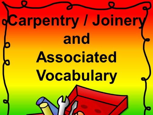 Carpenter / Joiner Vocabulary Activities and Worksheets
