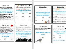 ks2 &  ks3 -- 28 5 minute Literacy tasks with instructions - form literacy/English lesson starter