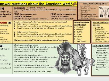 GCSE American West Edexcel 1-9 How to answer/structure the questions.