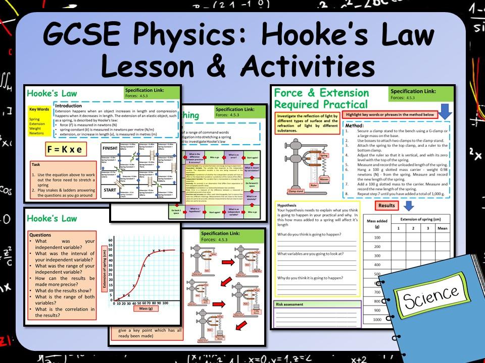 KS4 AQA GCSE Physics (Science) Hooke's Law Lesson