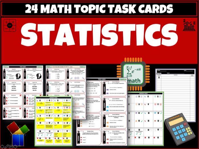 Statistics - Maths task cards