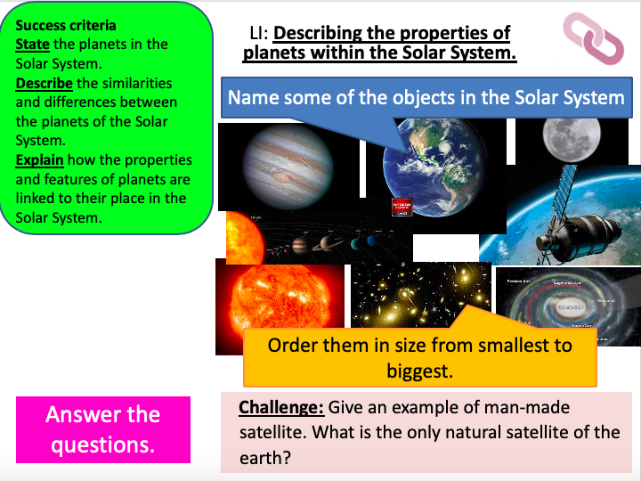 KS3 Universe (HOME LEARNING)