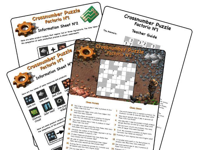 Factorio - Cross Number Puzzle No1