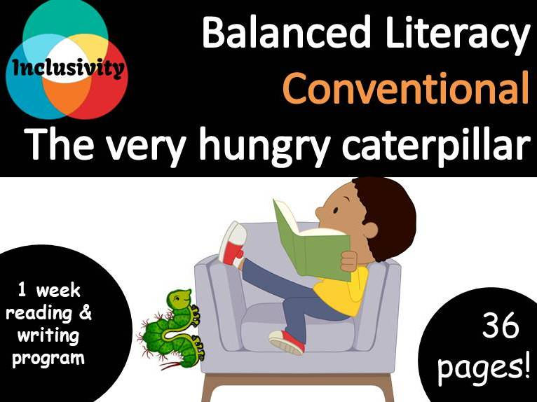 Balanced Literacy for special needs The very hungry caterpillar Conventional