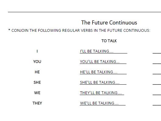 The Future Continuous  (LESSON 22)