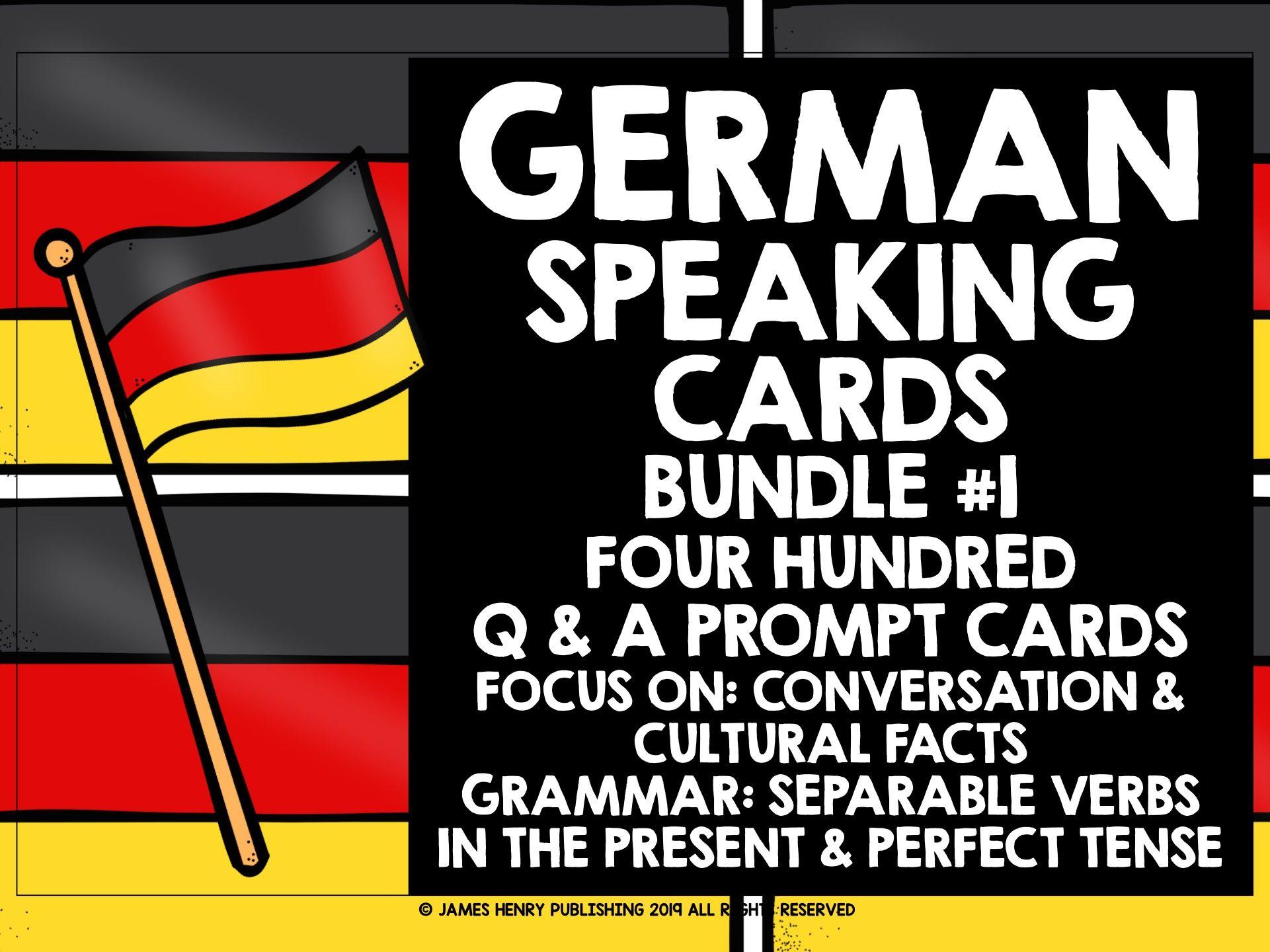 GERMAN SPEAKING PRACTICE BUNDLE #1