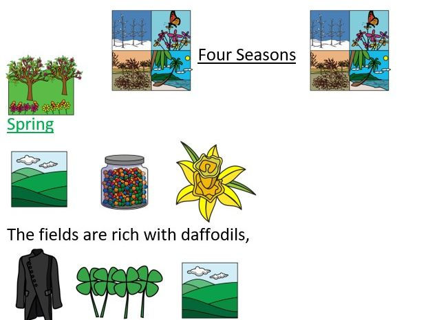 Four Seasons Poem with visuals