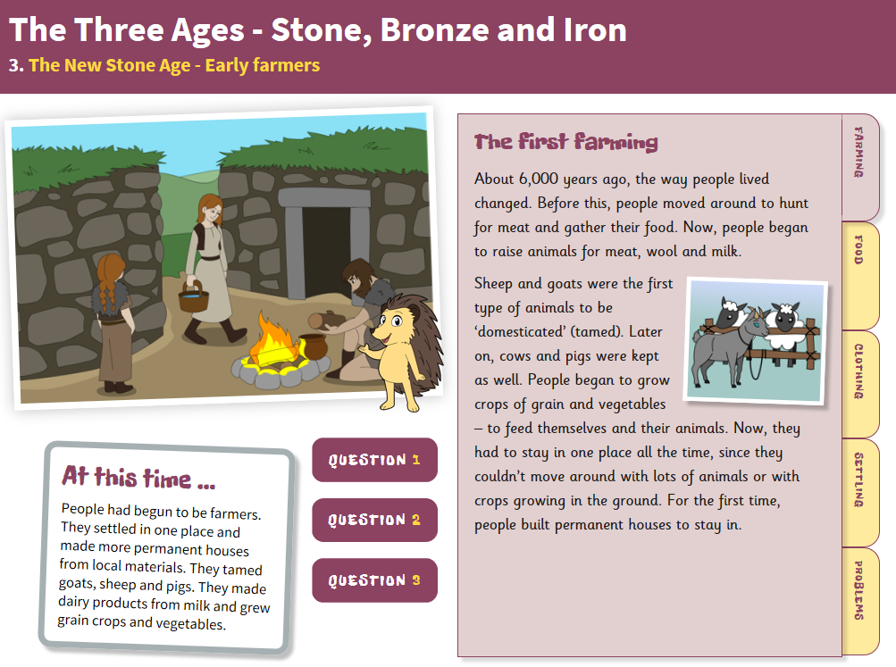 The New Stone Age: Everyday Life - Interactive Teaching Book - The Stone Age KS2