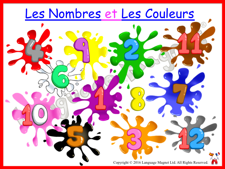 French Numbers and Colours