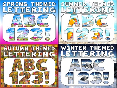*BUNDLE* 4 SETS OF LETTERING FOR AUTUMN WINTER SUMMER SPRING