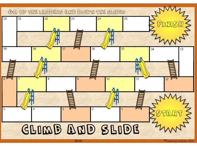BLANK BOARD GAME: Climb and Slide