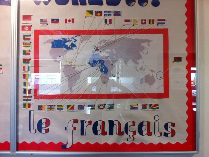 DISPLAY - Francophone countries - pays francophones - french speaking - ready made - MFL